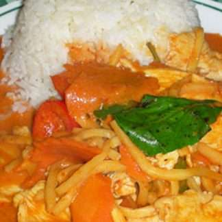 L6 Red Curry over Rice