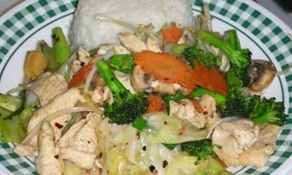 L7 Mixed Vegetable with Meat over Rice